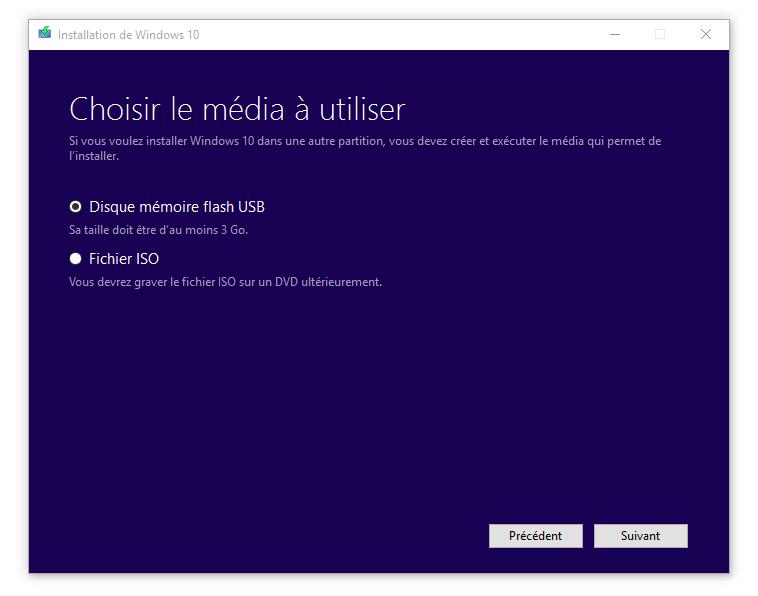 windows 10 cle usb installation facile tuto