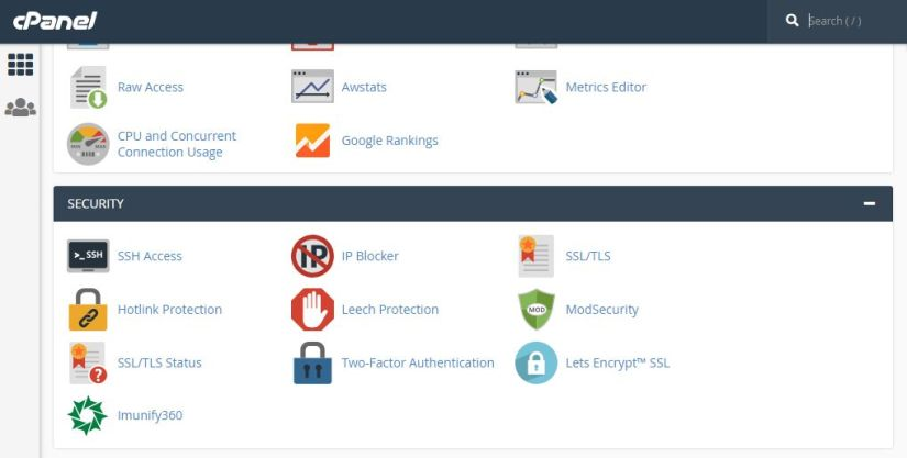 Security Apps in CPanel