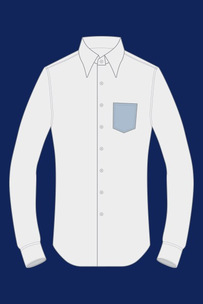 Camicia con taschino a punta