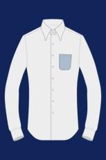 Camicia con taschino rotondo