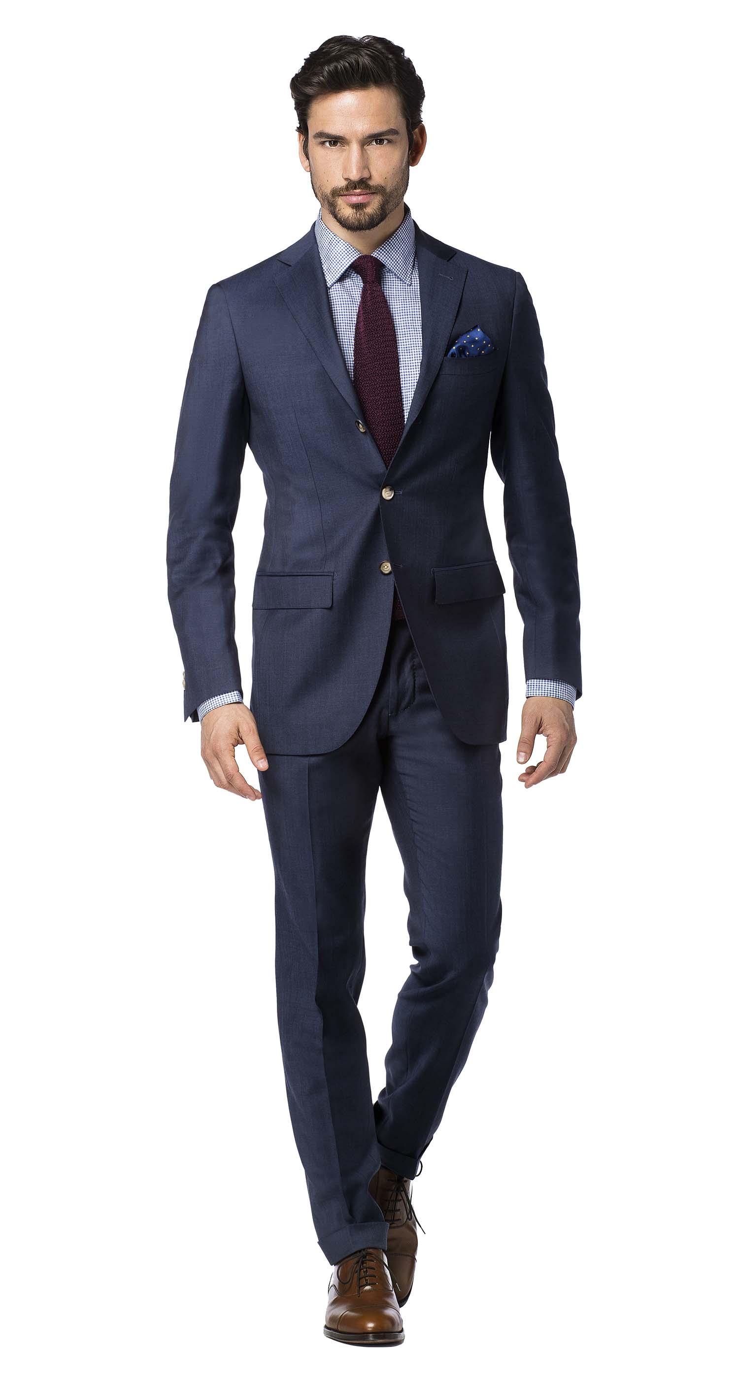 5b50946f342a Uomo indossa un abito metropolitan blu acciaio in fresco lana