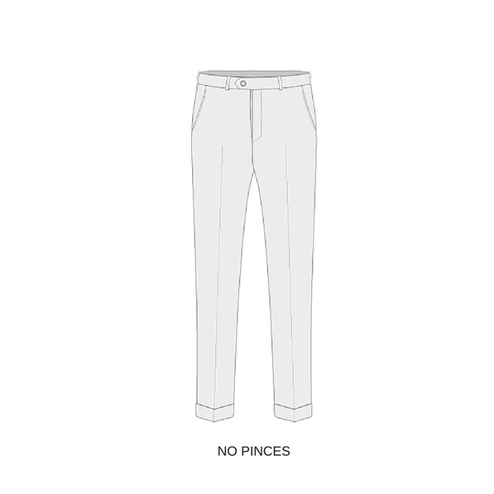 Exemple de pantalon sans pinces