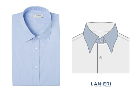 camicia con colletto italiano