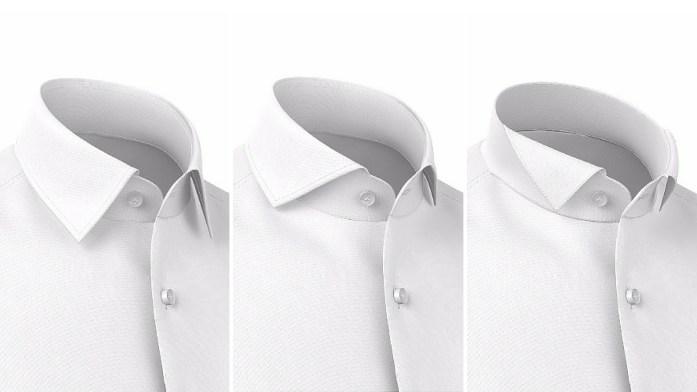 I tre colletti per la camicia da cerimonia bianca: collo italiano, collo francese e smoking