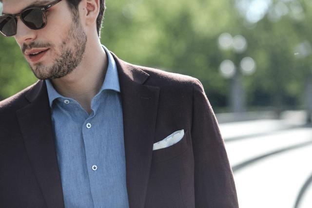 jacket shirt pocket square