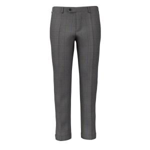 Pantalone Grigio Blu Finestrato (Loro Piana)