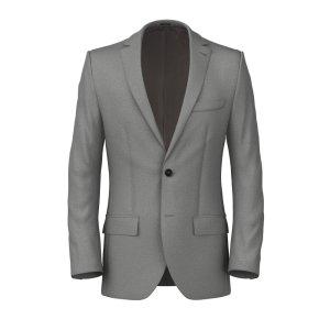 Fresco Grey Jacket Fabric produced by Lanificio Ermenegildo Zegna