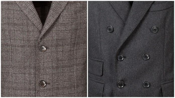 Boutonnage du manteau : simple boutonnage et double boutonnage