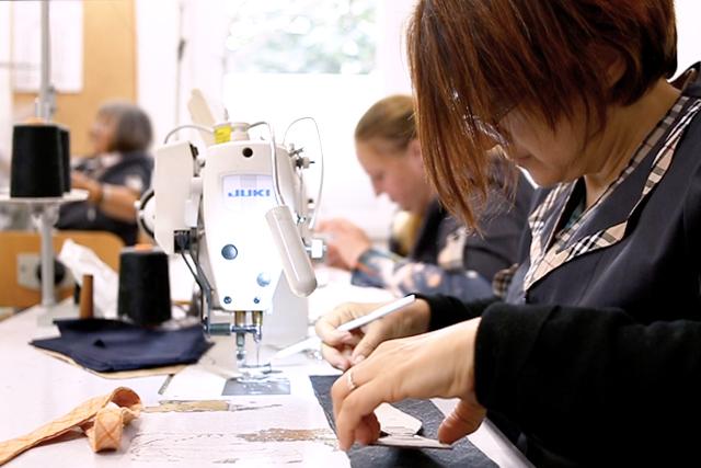 Italian artisans creating Lanieri accessories