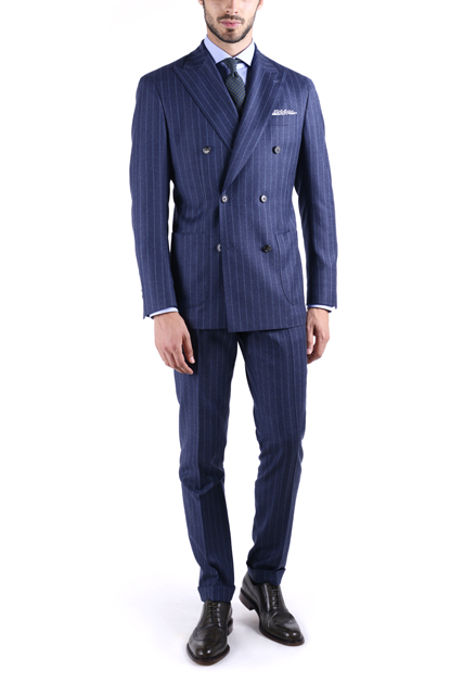 Mans made-to-measure suit tailored by Lanieri