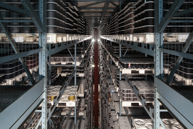 Interior of the Italian wool mill Successori Reda