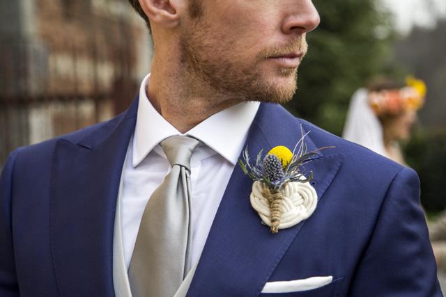Matrimonio Azzurro Xl : Tuta allacciatura al collo in pizzo elegante per un matrimonio