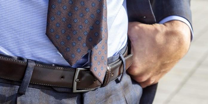 Handmade silk tie by Lanieri