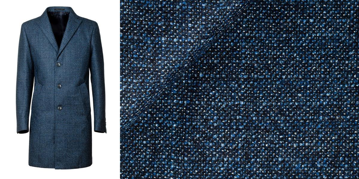 Cappotto Uomo Monopetto modello Burbery puro cachemire Blu
