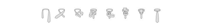 Half Windsor knot steps