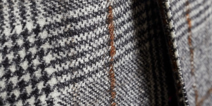 details of tweed fabric