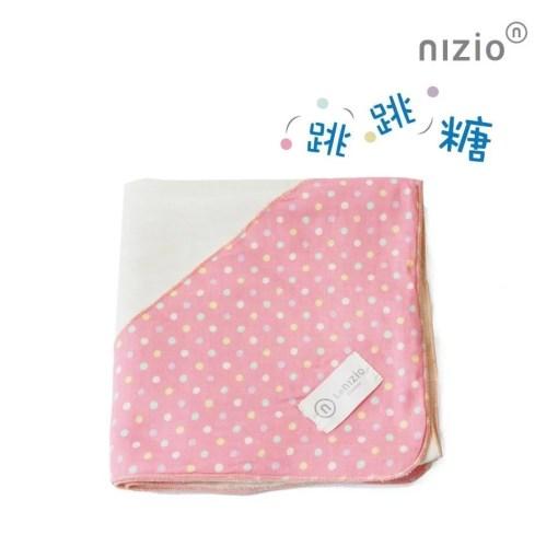 跳跳糖四層紗浴包巾粉紅