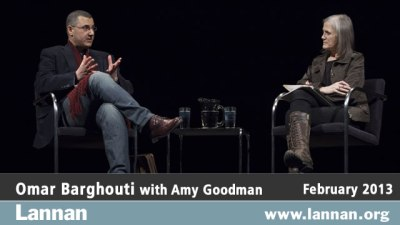 Omar Barghouti with Amy Goodman