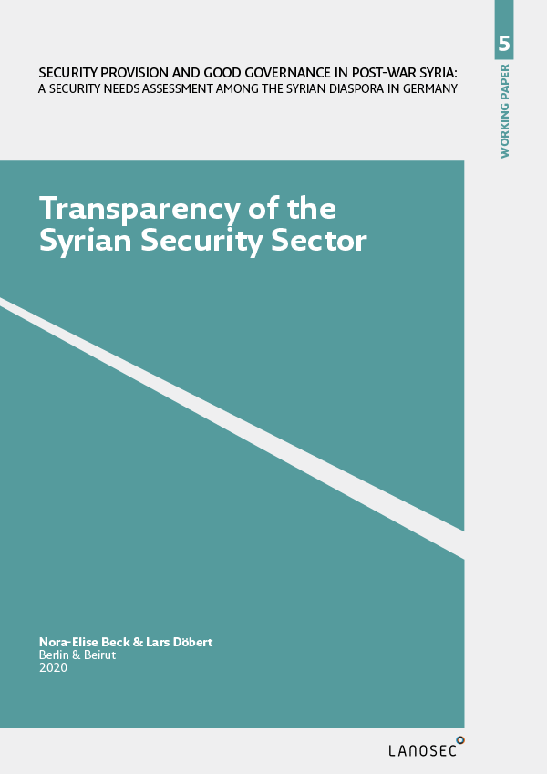 Working Paper 5: Transparency of the Syrian Security Sector