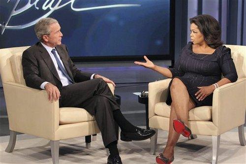 Foto Oprah Winfrey Show intervista a George W. Bush