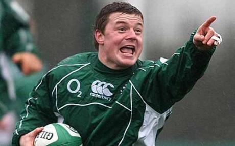 Foto del campione di rugby Brian O'Driscoll