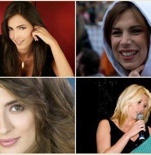 Foto delle quattro giovani conduttrici Rai lanciate da Del Noce: Balivo, Maya, Isoardi e Daniele
