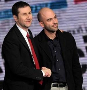 Roberto Saviano e Fabio Fazio LA7