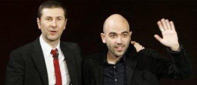 Fabio Fazio e Roberto Saviano Foto
