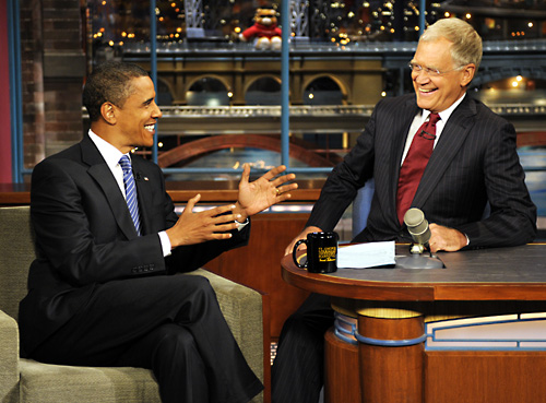 David Letterman e Barack Obama Foto
