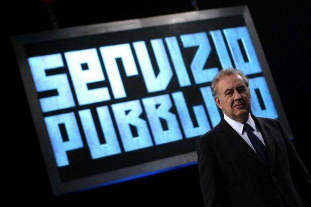 Michele Santoro conduce Servizio Pubblico