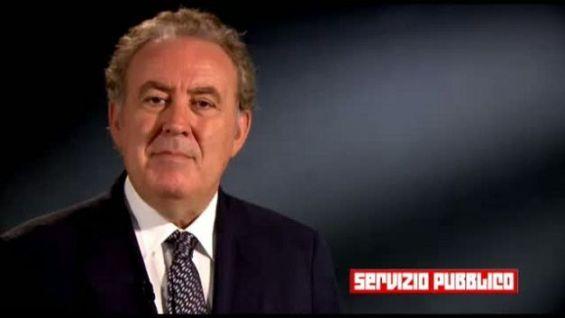 Il conduttore di Servizio pubblico Michele Santoro