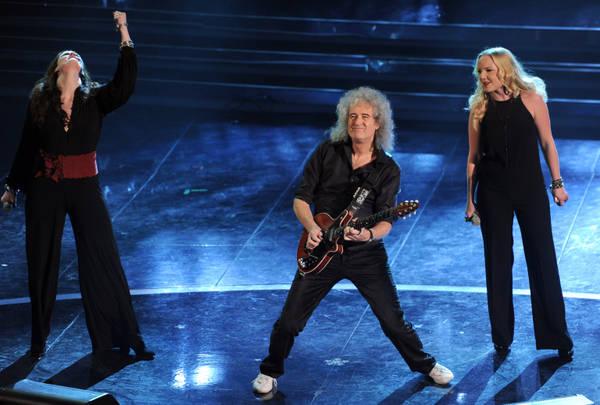 Brian May con Irene Fornaciari