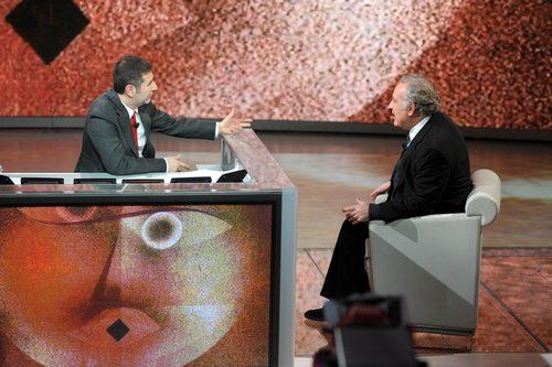 Fabio Fazio intervista Santoro