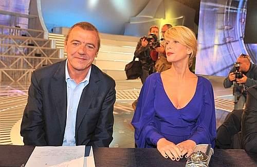 Foto di Massimo Donelli e Alessia Marcuzzi al GF