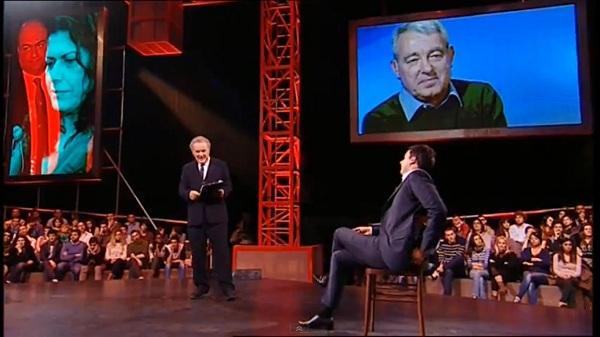 Michele Santoro e Matteo Renzi a Servizio Pubblico
