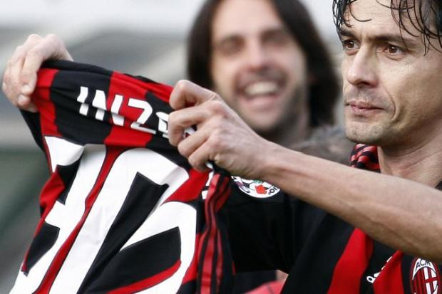 Filippo Inzaghi all'ultima partita
