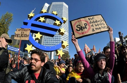 Occupy Frankfurt in Germania