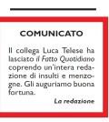 I COLLEGHI DEL FATTO SALUTANO TELESE