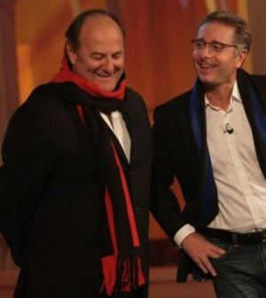 Foto di Paolo Bonolis e Gerry Scotti Italia's got talent