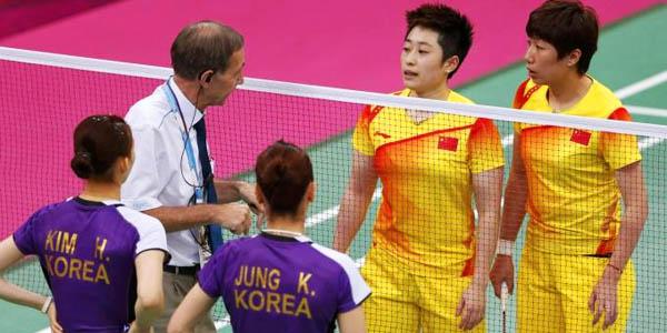 badminton olimpiadi londra 2012 scandalo biscotto espulsione cina corea indonesia