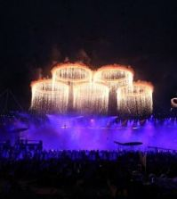 Foto cerchi olimpici, cerimonia d' apertura Olimpiadi 2012