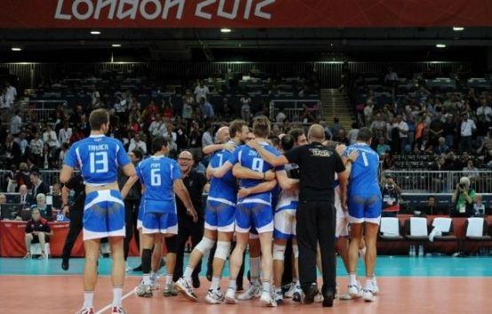 Foto squadra pallavolo maschile Italia semifinale Olimpiadi Londra 2012