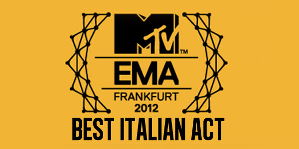 MTV EMA 2012 Best italian Act logo