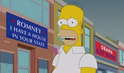 I Simpson: Homer vota alle elezioni americane per Romney