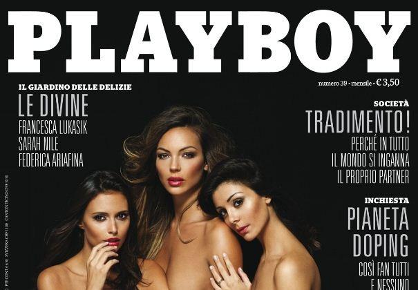 Foto di Sarah Nile sulla copertina di Playboy