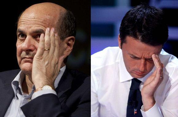 Foto Matteo Renzi e Pier Luigi Bersani