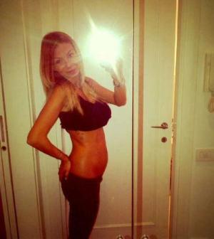 Foto di Sabrina Ghio incinta