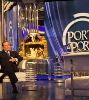 L'ex Premier Silvio Berlusconi da Porta a Porta a Servizio Pubblico