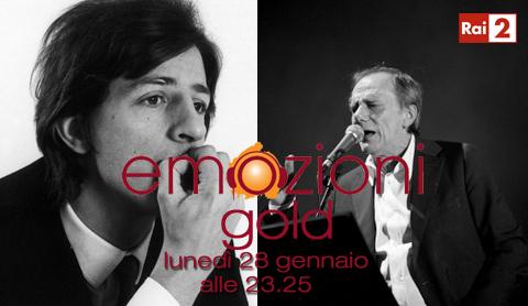 Giorgio Gaber e Roberto Vecchioni protagonisti di Emozioni Gold