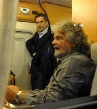 Beppe Grillo sul suo camper